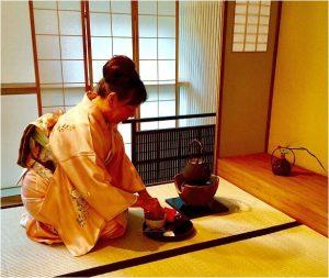 Original japanische Teezeremonie